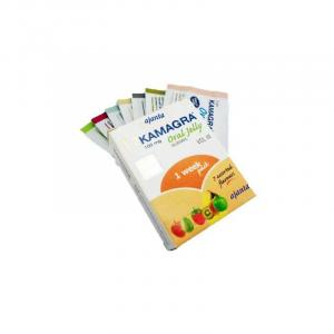 Kamagra Oral Jelly - Sildenafil Citrate - Ajanta Pharma, India