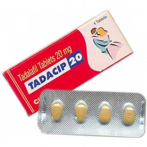 Tadacip 20 mg - Tadalafil - Cipla, India